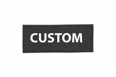 Custom Velcro ID Placard - Black