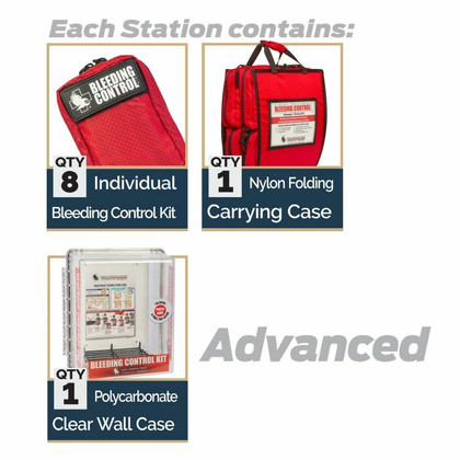 D-BCRK Bleeding Control 8-Pack Station - Nylon - Advanced