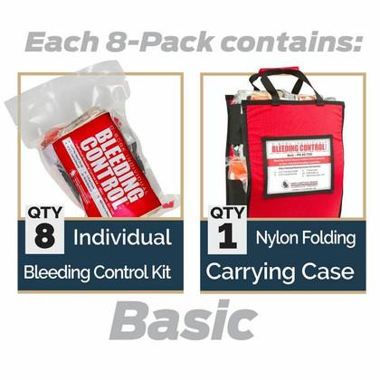D-BCRK Bleeding Control 8-Pack - Vacuum Sealed - Basic