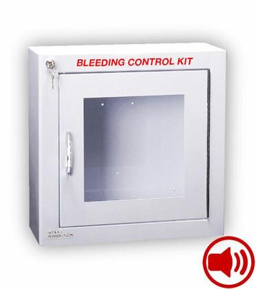 Bleeding Control Kit Cabinet with Audible Alarm - Semi Recessed (ADA Compliant)