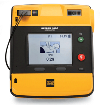 Physio-Control LIFEPAK 1000 Graphical Display AED - Front