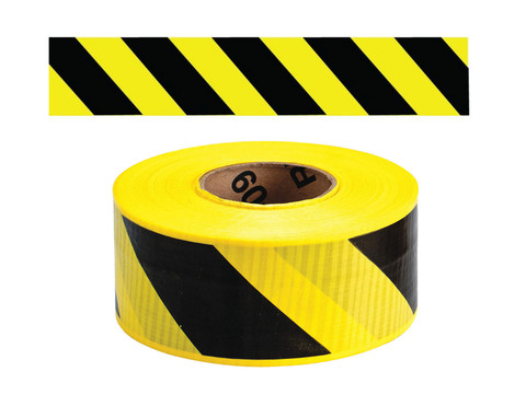 Yellow/Black Stripe - Barricade Tape