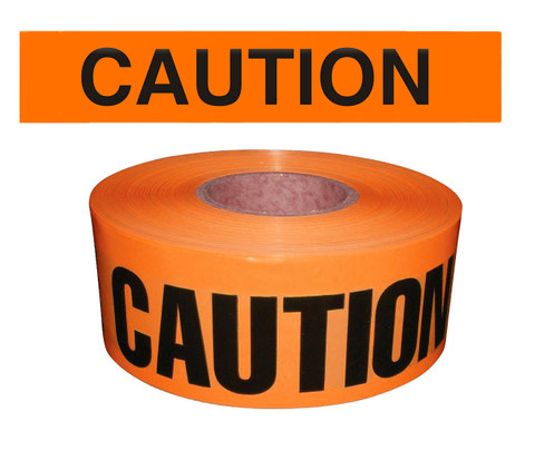 "Barricade Tape - ""Caution"" - Orange"
