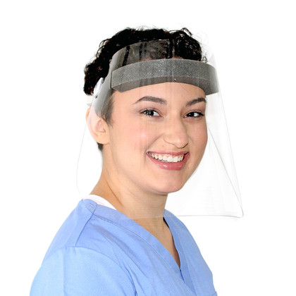 Disposable Face Shield with Latex Free Elastic Band