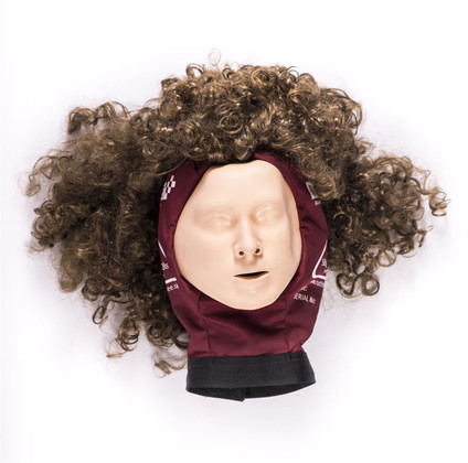 Ruth Lee Face Mask w/Wig For Adult Training Manikins