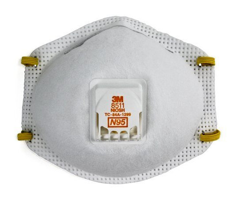 3M 8511 Particulate Respirator and Surgical Mask - N95 front