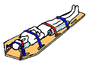 MM Nylon 2 pc. Metal Buckle & Loop End Spineboard Strap - 5' diagram