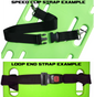 MM Nylon 2 pc. Metal Buckle & Loop End Spineboard Strap - 5' example