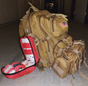 Elite Tactical Trauma First Aid Backpack - Full Kit. Image shown with Rapid Response Bag and Basic Ifak Bag (Not included)