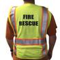 Majestic Class 2 Safety Vest - H Back - Fire Rescue