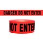 """""""Danger Do Not Enter"""" - Red - Barricade Tape"""