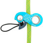 Kong Duck Rope Clamp - Cyan on Rope