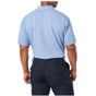 5.11 Tactical Professional Short Sleeve Polo - Fire Med Blue - Back
