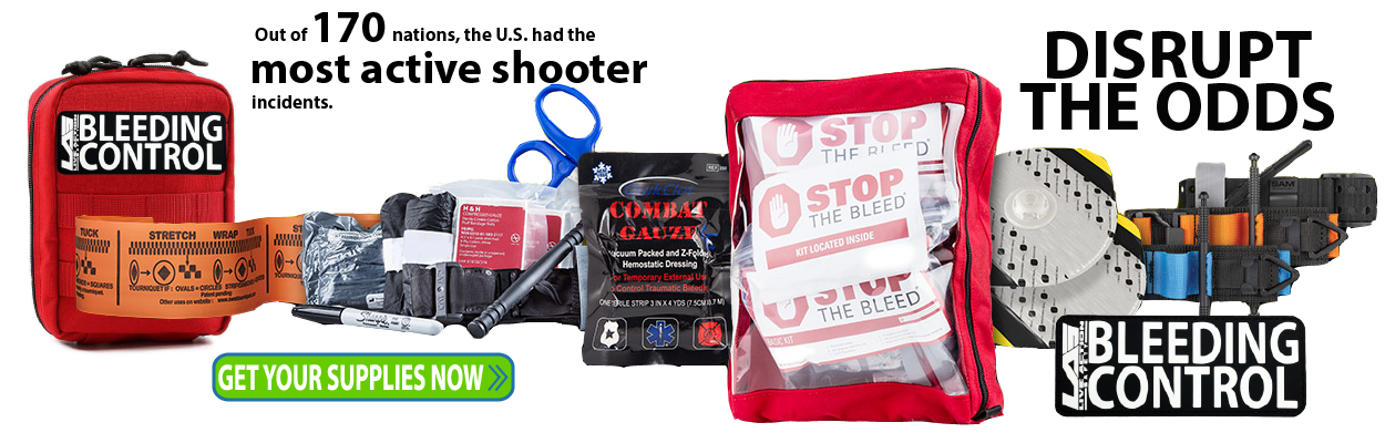 Live Action Safety we've designed Active shooter kits as a easy to use solution to respond to active shooter situations. Ideal for Military, Police, School, Personal, and all others.  We also have lots of options for tourniquets, hemostatic blood clotting
