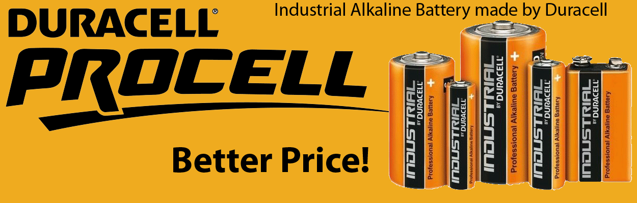 Duracell industrial professional alkaline battery created for professional applications, our Procell batteries offer dependable, long-lasting power.