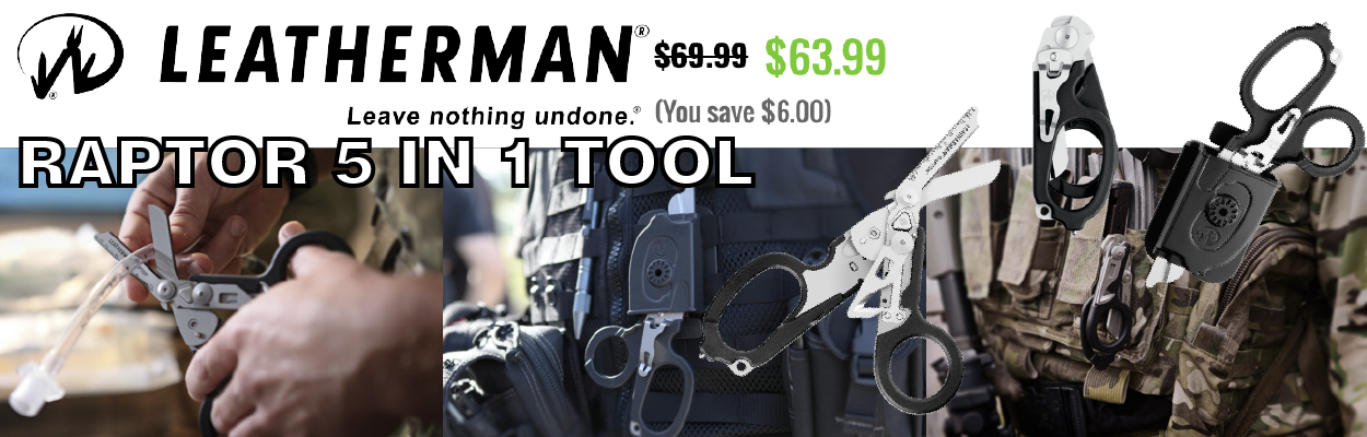 Leatherman Raptor Medical Shears Multi-Tool. This powerful set of medical shears provides uniformed professionals with everything they need to get to work quickly in emergency situations, without unnecessary tools that could complicate sometimes life-thre