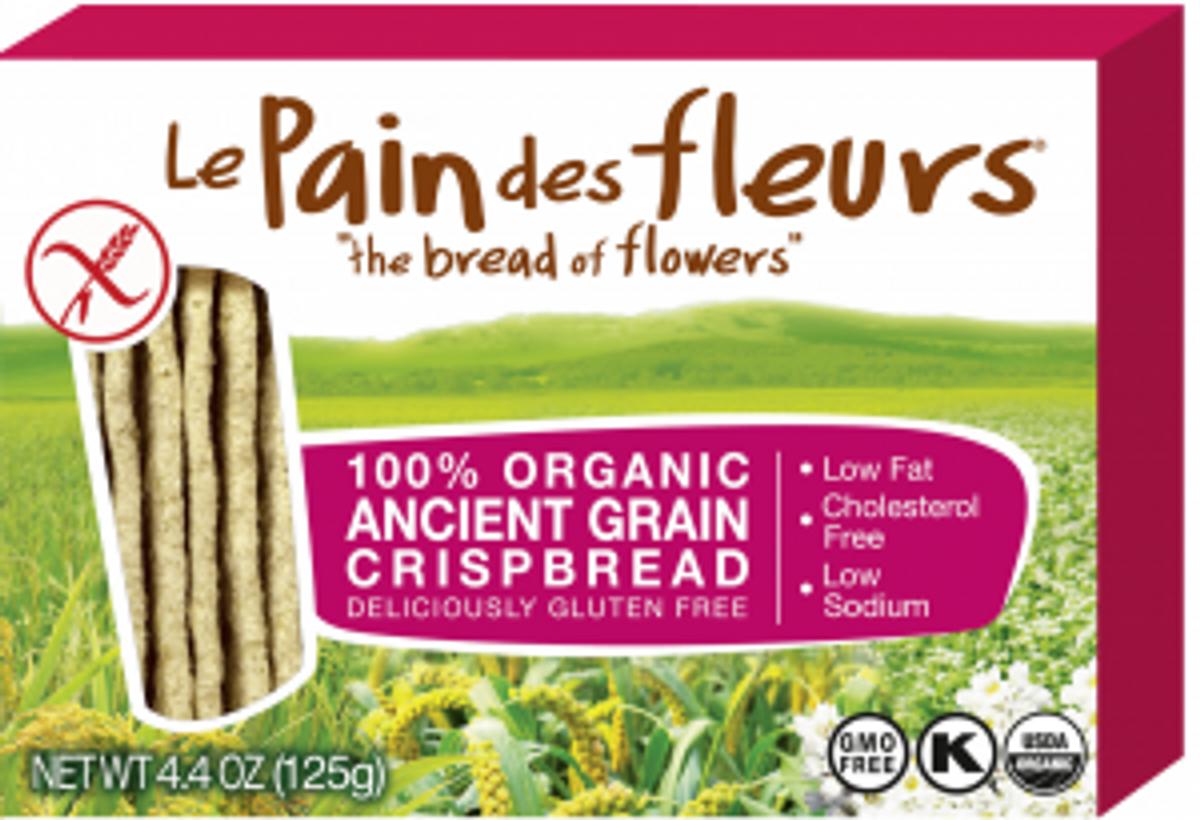 Le Pain des Fleurs Ancient Grain Crispbread - Gluten Free Breadstick Substitute