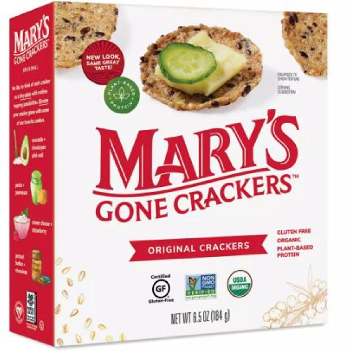Mary's Organic Original Crackers - Gluten Free Breadstick Substitute