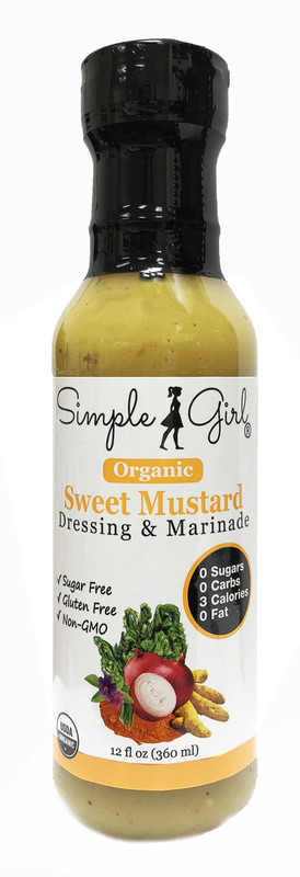 Simple Girl Organic Sweet Mustard Salad Dressing
