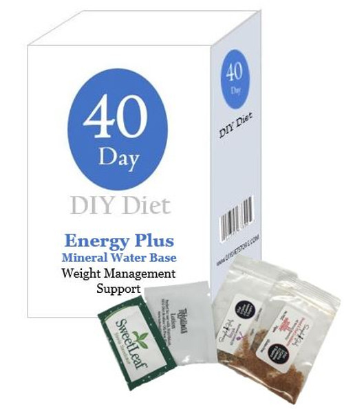 40 Day DIY Diet Weight Loss Package Plus Energy (Mineral Water Base)