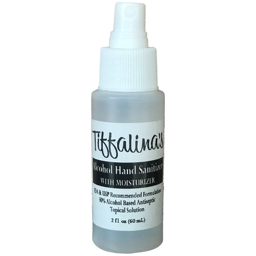 Spray hand sanitizer bottle. Easy to use and dries fast.