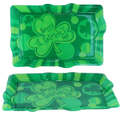 Happy St. Patrick's Day Serving Tray. Celebrate St. Patrick's Day by serving snacks with this festive Happy St. Patrick's Day Serving Tray. Great way to show your Irish pride.