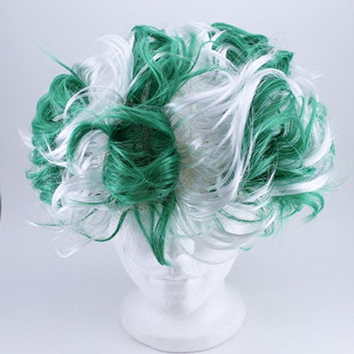 Green & White Wig