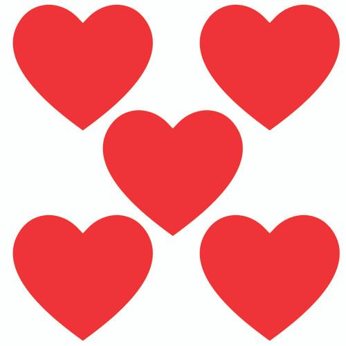 "Heart Cutout 4"" 5PK"