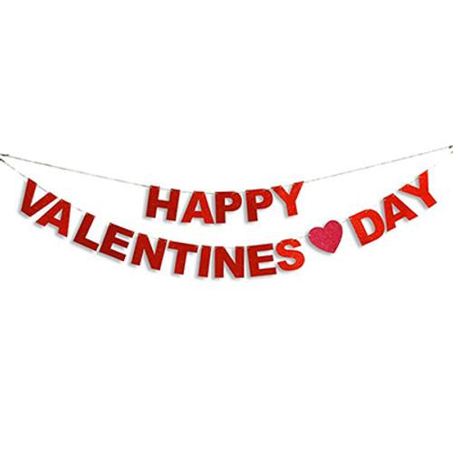 Happy Valentine Day Banner 8ft