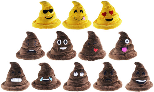 Plush Poop Emoji Hat
