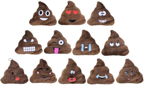 Plush Emoji Poop Pillow