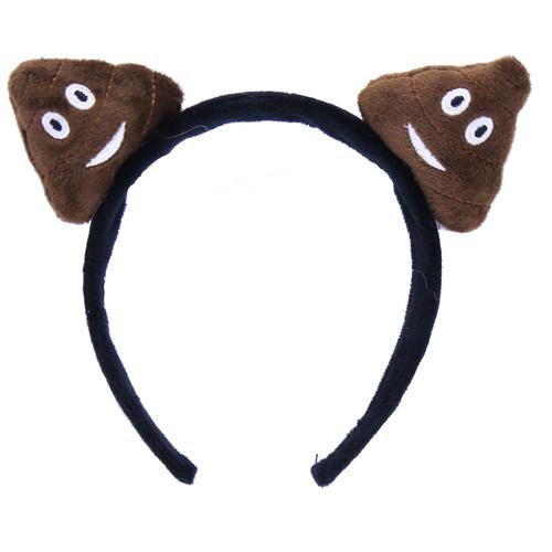 Plush Emoji Poop Headband