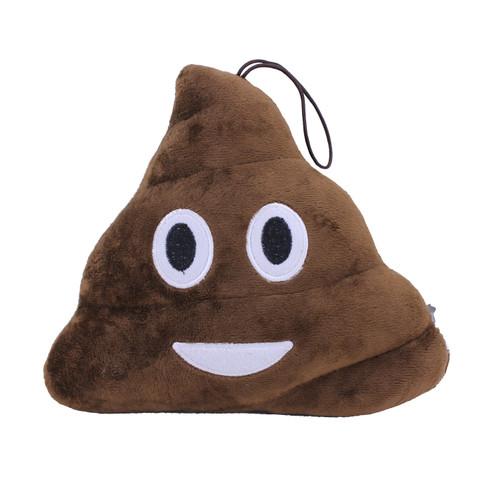 """Plush Emoji Poop Pillow 9"""""""