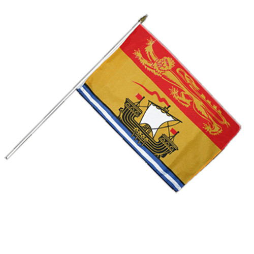 "New Brunswick Hand Waving Flag 12"" x 18"""