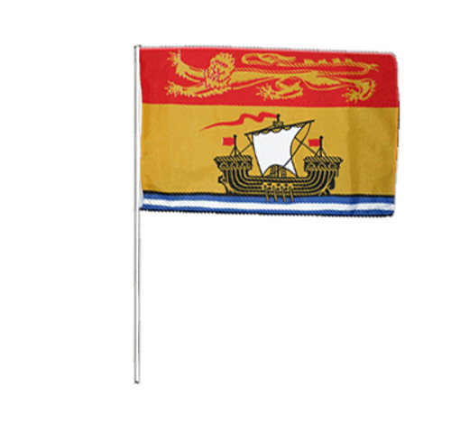 New Brunswick Hand Waving Flag 2' x 3'