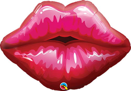 "Big Red Kissy Lips 30"" Foil Balloon"