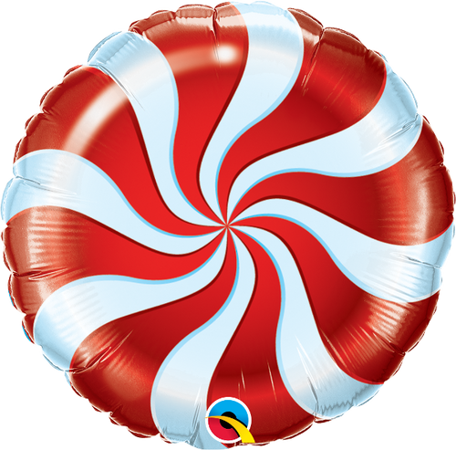 """Candy Swirl Red 18"""" Foil Balloon"""