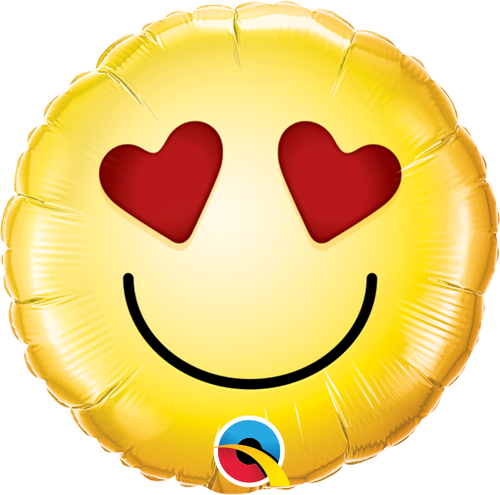 """Smiley Love Air Filled 9"""""""