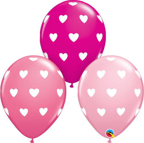 "Big Hearts 11"" Latex Balloon"