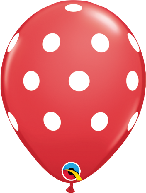 Big Polka Dots Red