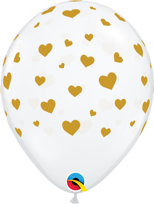 "Big Polka Dots Clear 11"" Latex Balloon"