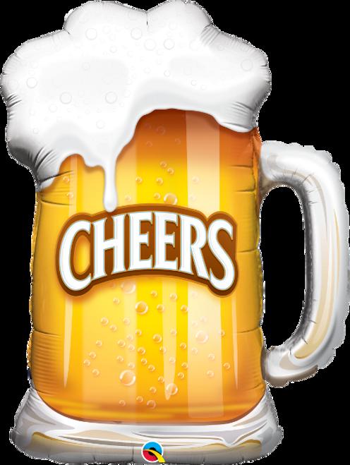 """Cheers! Beer Mug 35"""" Foil Balloon"""