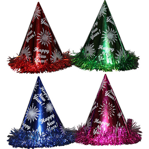 New Year's Eve Cone Party Hats