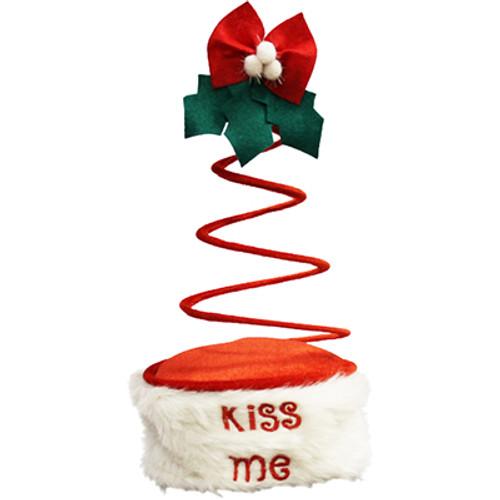 Christmas Mistletoe Springy Hat