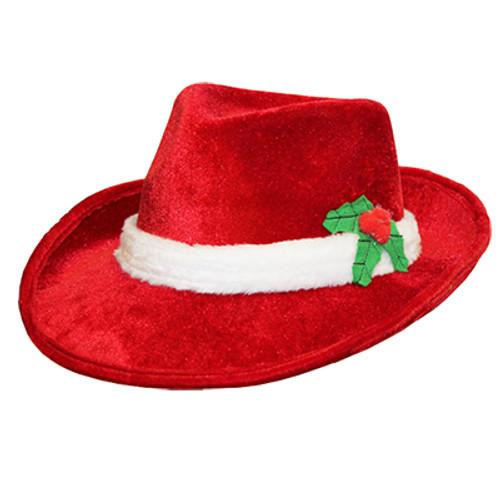Red Velvet Santa Fedora