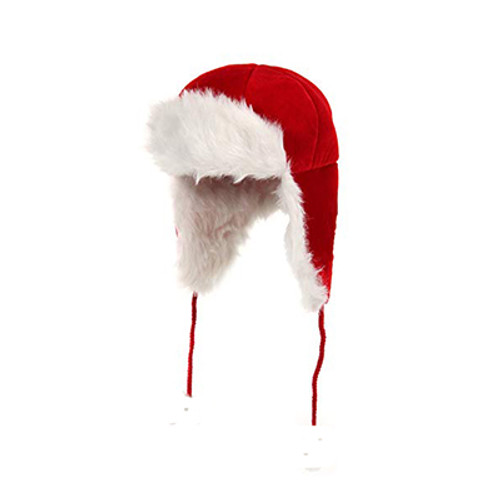 Santa Aviator Hat with Flaps