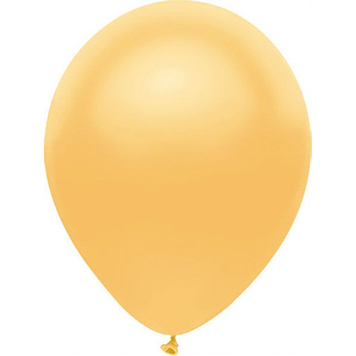 """PartyMate Radiant Gold 12"""" Latex Balloon 15 Count"""