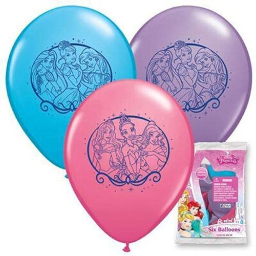 "Disney Princess Cinderella 12"" Latex Balloon 6 Count"