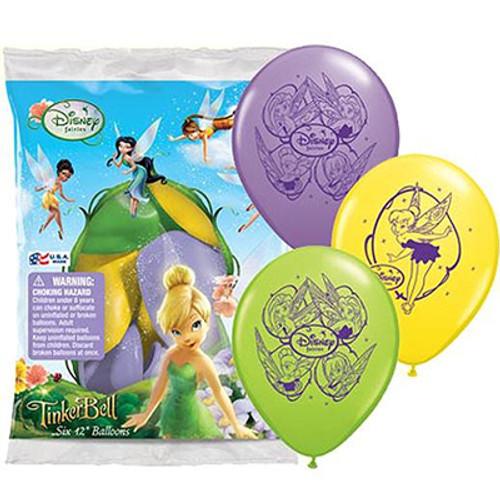 "Disney Tinker Bell 12"" Latex Balloon 6 Count"