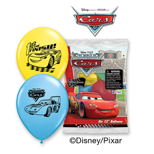 "Disney Cars 12"" Latex Balloon 6 Count"